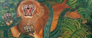 Antonio Ligabue, Re della foresta, 1959 (olio su tela, particolare)