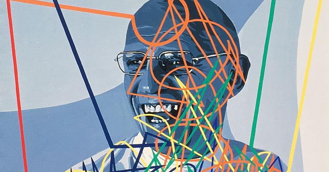 Gérard Fromanger, Portrait de Michel Foucault, 1976 (particolare)