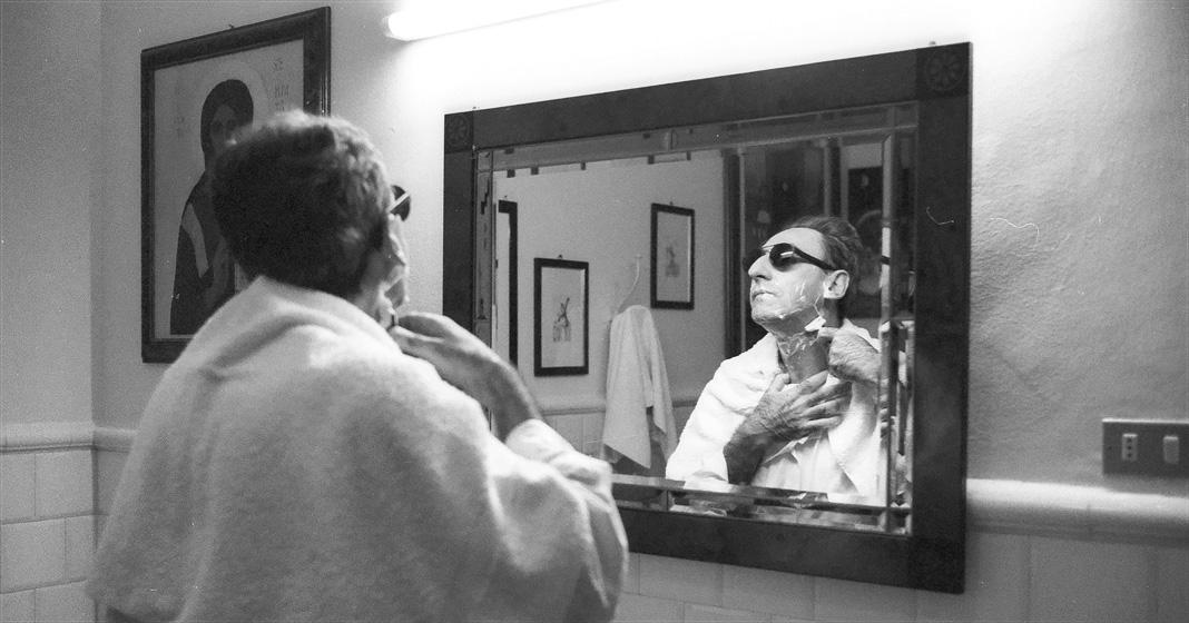 Franco Battiato in una foto di Luciano Viti