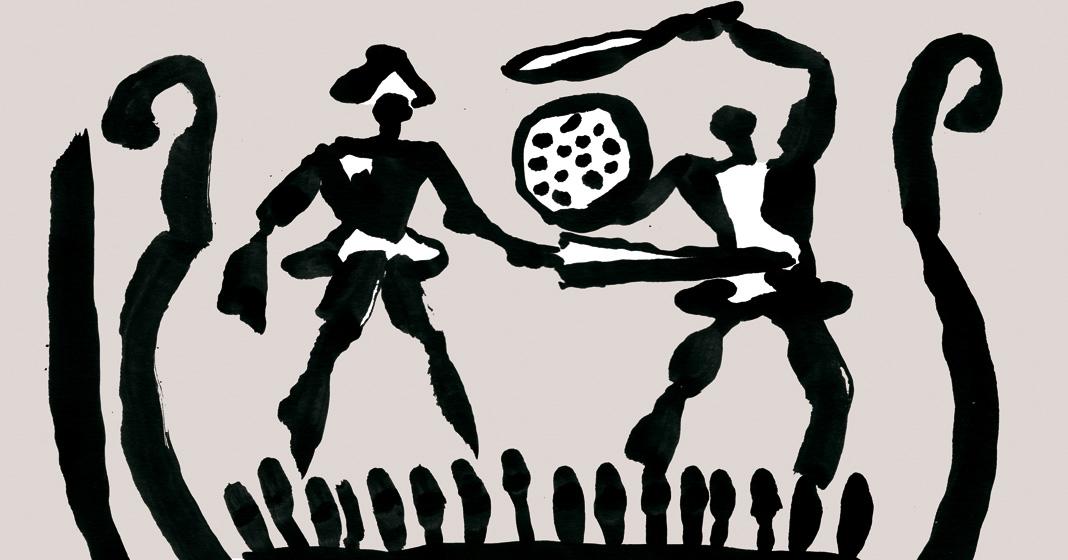 Guerre preistoriche, illustrazione di Federico Manzone