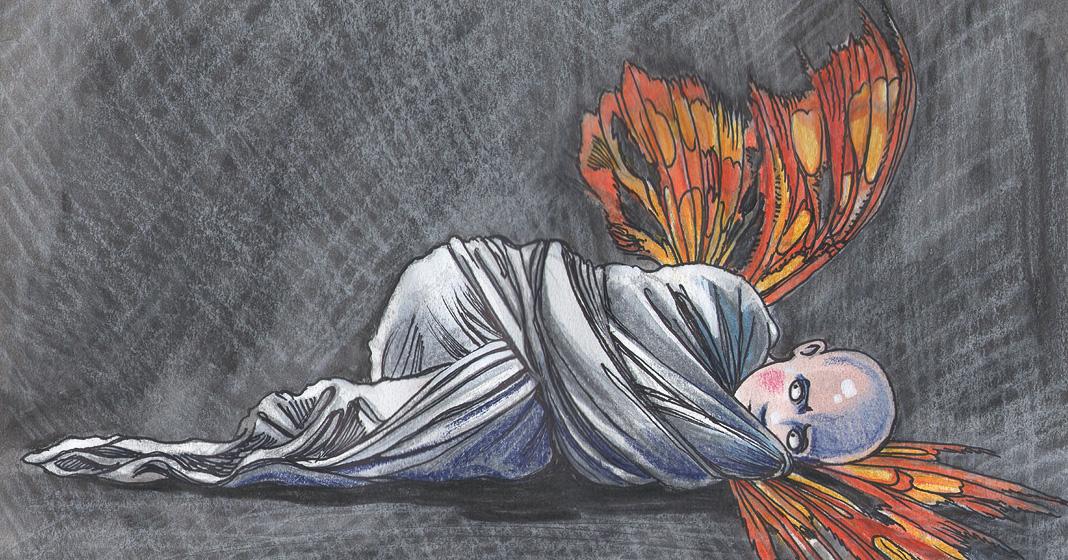 """Illustrazione di Nives Manara a sostegno della campagna """"…E tu slegalo subito"""""""