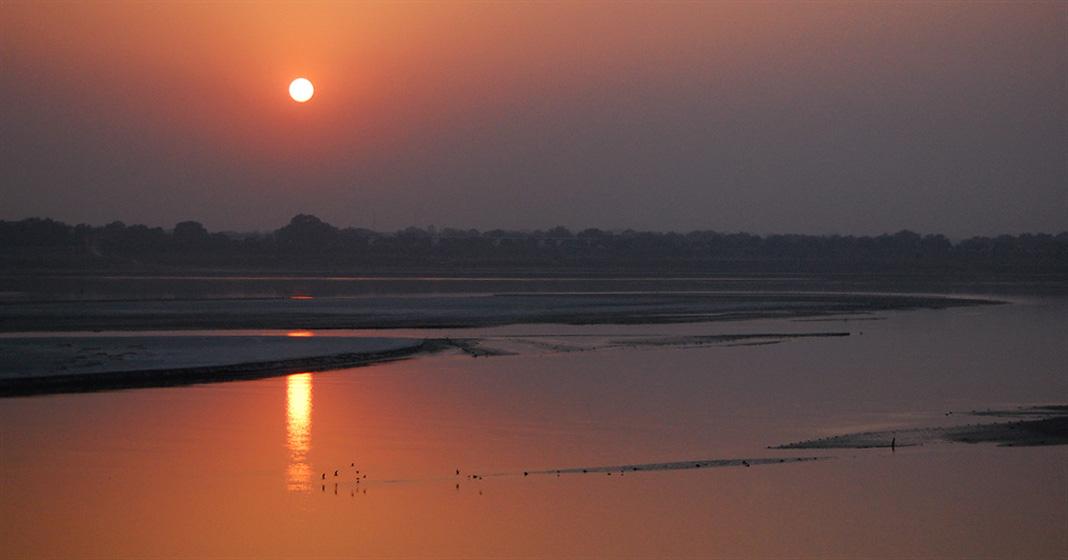 Tramonto sul Gange