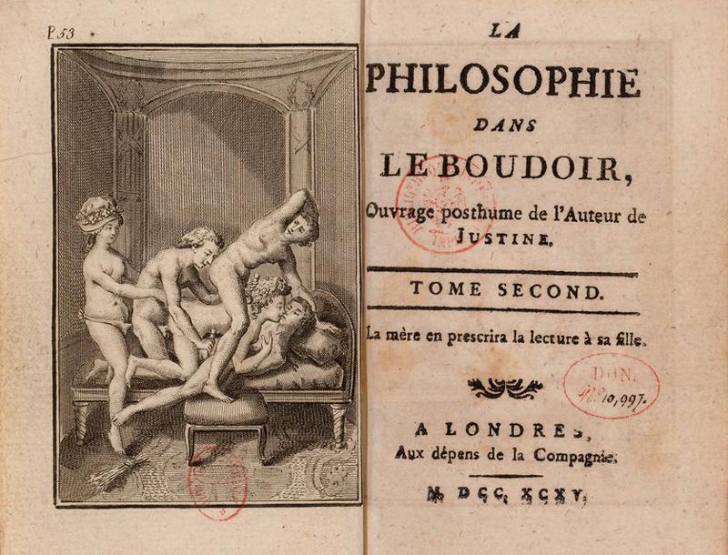 Marquis de Sade, La philosophie dans le boudoir