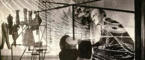 Duchamp davanti al Grande vetro