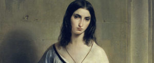 Francesco Hayez, Malinconia, 1841, olio su tela, Pinacoteca di Brera, Milano